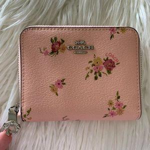 Coach Pink Multi Daisy Bundle Small Zip Wallet